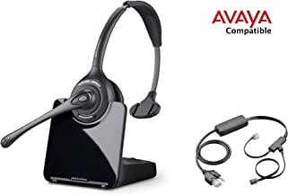 Avaya Compatible Plantronics CS510 VoIP Wireless Headset Bundle with Electronic Remote Answer|End and Ring alert (EHS) for Avaya Phones: 2420 4610 4610SW 4620 4620SW 4621 4621SW 4622 4622SW 4625 4625SW 4630SW 5420 5610 5620 5621