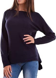 Pullover donna leggero lungo maglioncino ampio maniche bordi pizzo nuovo Y5871
