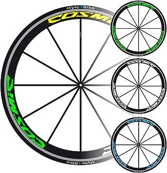 Style4bike Laufrad Decals Cosmic Laufradaufkleber Bike Decals Sport Freizeit