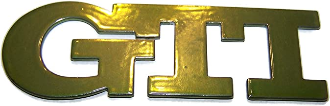 3D Stainless Steel Golf GTI Badge (GTI Candy Green)