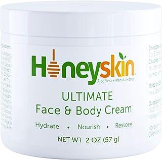 Organic Manuka Honey Face and Body Moisturizing Cream - Facial Skin Care - Dry Skin, Cracked Hands, Rosacea Eczema Psorias...