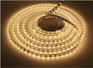 LEDMY Dimmable LED Strip Light, DC24V Tape Lights, 3000K Strip Lights, 300 LEDs SMD2835 16.4ft/5m Light Strip,Non-Waterpro...