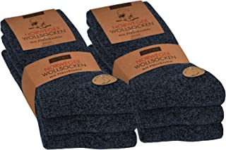 OCERA, 6 pares de calcetines flexibles de lana noruega para hombre y mujer en diferentes colores (unisex)