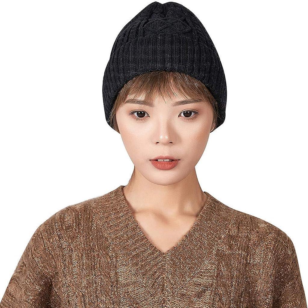 MONISE Women Girl Beanie Cuff Knit Skull Fisherman Ribbed - Regular discount Cheap mail order sales Hat