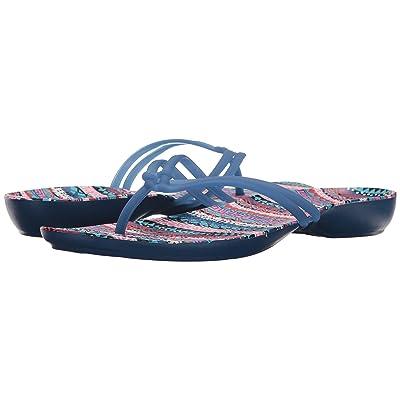 Crocs Isabella Graphic Flip (Blue Jean/Geo) Women