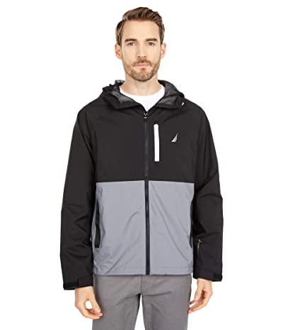 Nautica Color-Block Rainbreaker Jacket (Grey Shadow) Men
