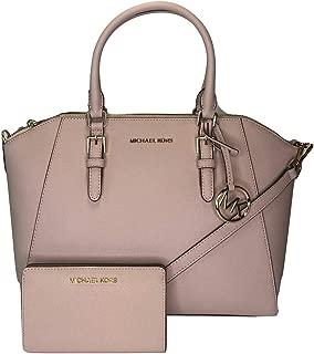 MICHAEL Michael Kors Ciara Large TZ Satchel bundled with Michael Kors Jet Set Travel Slim Bifold Wallet