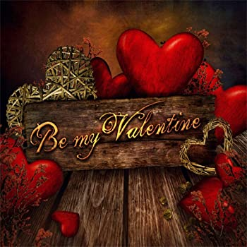 CdHBH 10x12ft Heart-Shaped lamp Wooden Texture Floor Valentines Day Wedding Decoration Photo Studio Studio Photography Photography Props Festival Venue Party Decoration Wallpaper