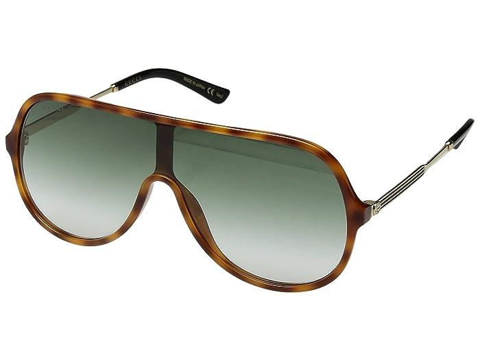 Gucci  GG0199S (Havana/Green) Fashion Sunglasses