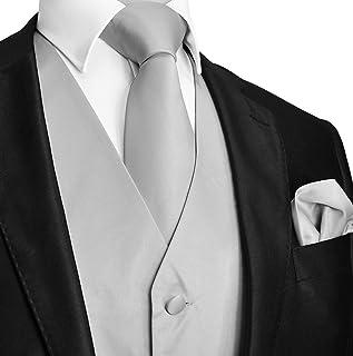 b03b9358115 Brand Q 3pc Men s Dress Vest Necktie Pocket Square Set For Suit or Tuxedo