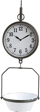Creative Co-Op White Decorative Reproduction Scale Wall Clock