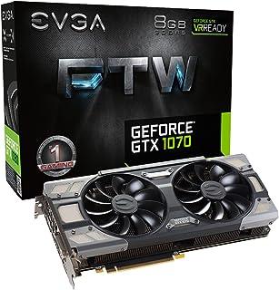 GA GeForce GTX 1070 FTW GAMING ACX 3.0, 8 GB GDDR5 (256 Bit), HDMI, DVI, 3xDP