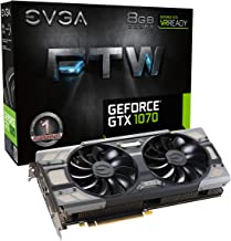 EVGA GeForce GTX 1070 FTW GAMING ACX 3.0, 8GB GDDR5, RGB LED, 10CM FAN, 10 Power Phases, Double BIOS, DX12 OSD Support (PX...