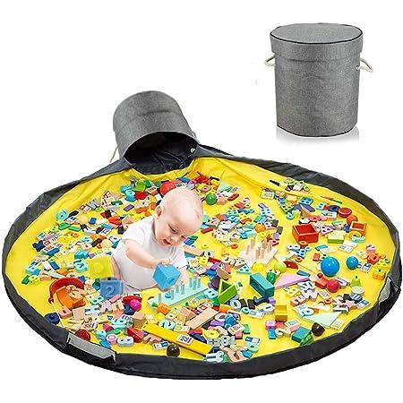 Sacco Portagiochi Tappeto,Toy Storage Mat,Tappetino per Giochi Organizzatore di Giocattoli,Sacca Porta Giochi Bambini,Toy Storage Bag,Toy Organizer,Borsa per Giocattoli