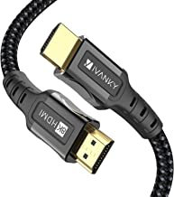 8K HDMI Cable 3.3 ft iVANKY HDMI 2.1 Cable 8K@60Hz Ultra HD 48Gbps 8K HDR, 3D, 4320P,2160P, 1080P, Ethernet - Zinc Alloy Shell - Audio Return (ARC), UHD TV, Monitor, PS4, PS3, PC