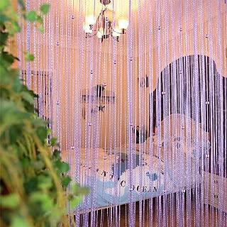 UNIAI Tassel Curtains Door Beads Curtains - String Curtain 100x200cm Bead Curtain for Doorway Thread Fringe Window Panel Room Divider Cute Strip Tassel Party Events