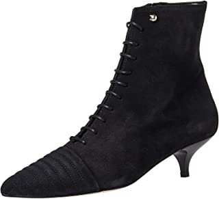 FIND Women's Ankle Boots in Suede with Eyelet Lace Ups, Black, 3 UK,02/02/2001