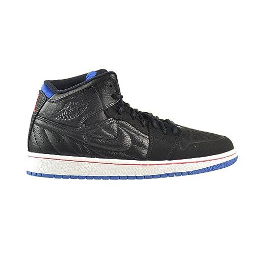 76aa95b6a8db Jordan Air 1 Retro  99 Men s Shoes Black Sport Blue-Infrared-White