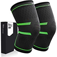 1 Pair Bolly Compression Knee Support for Meniscus Tear, Running, Arthritis, Joint Pain Relief and Injury Recovery