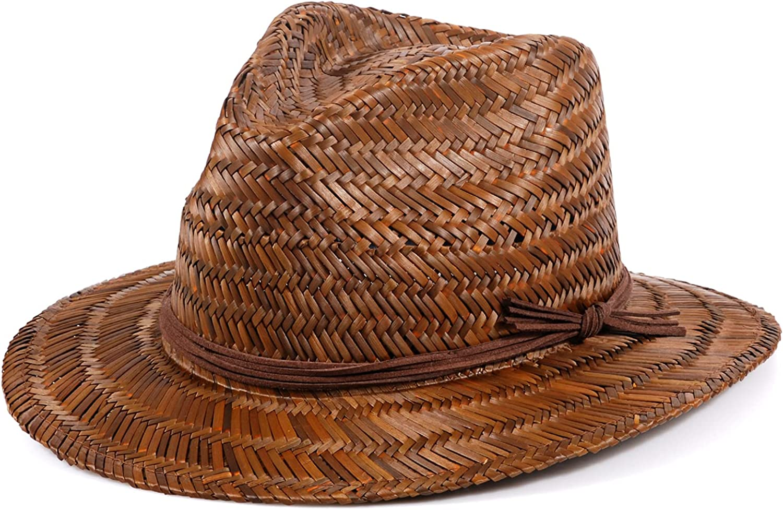 Straw Hat, Panama Hats Sun Straw Fedora Summer Beach Hat Fine Braid UPF for Women and Men
