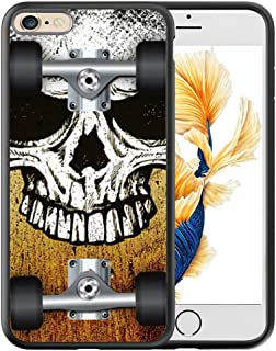 iPhone 6S Plus Black Case, Customized Black Soft Rubber TPU Cool Style Design 3D Printing Scratch-Resistant Thin Flimsy Case For iPhone 6 Plus Case Black Skull skateboard