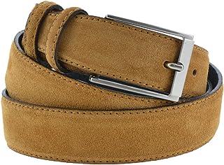 La Bottega del Calzolaio Cintura camoscio marrone chiaro color cammello uomo donna 3,5 cm artigianale made in Italy