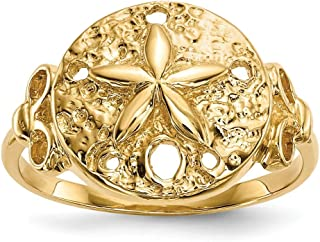 14ct pulido arena Dólar anillo