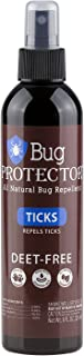 Bug Protector All Natural Tick Repellent Spray - DEET Free - 8oz (1 Bottle)
