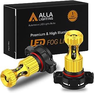 Alla Lighting 2504 PSX24W LED Fog Lights Bulbs Newest ZES SMD 3000lm Extreme Super Bright 12276, 6K Xenon White