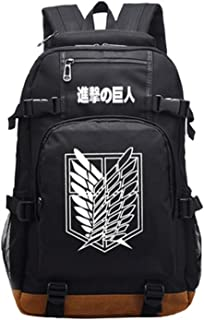 Attack on Titan Luminous School Bag College Backpack Bookbags Student Laptop Bags