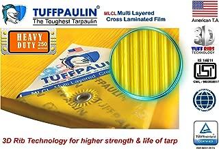 Tuffpaulin Waterproof Uv Treated Virgin Extra Strong 14611:2016 Approved Tarpaulin (15 X 12 Ft, Yellow)