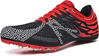 iFRich Track Spikes Shoes Mens Womens Mesh Track and Field Athletics Sneakers Boys Girls Training Sprint Racing Track Shoes with Spikes