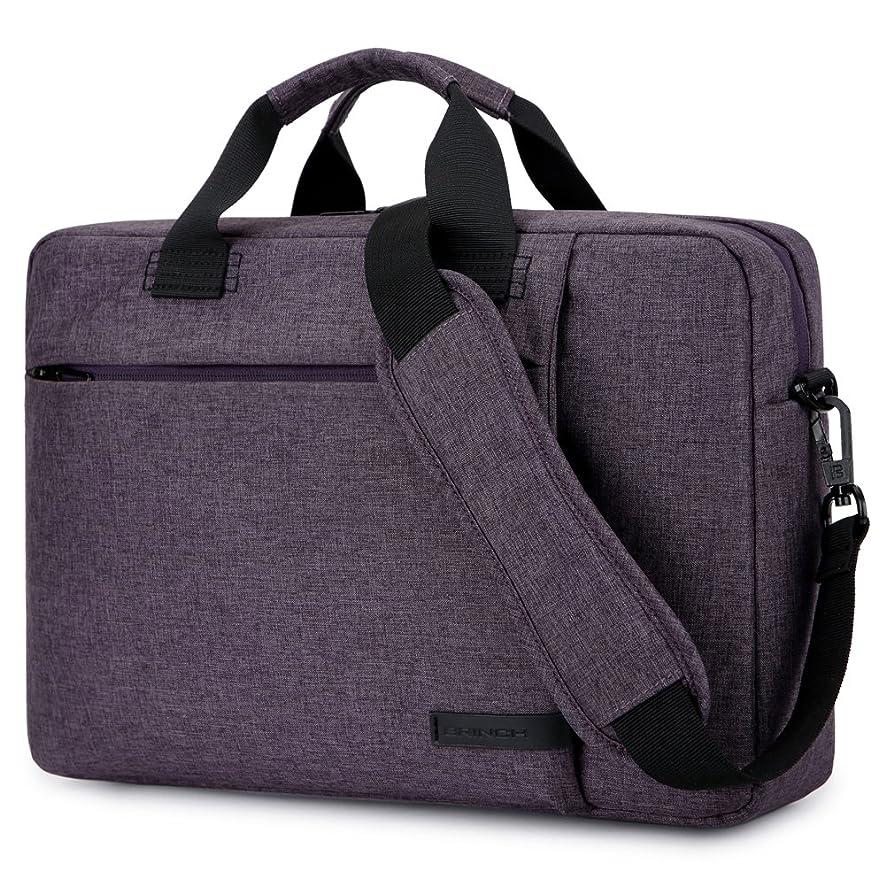 Laptop Bag 15.6 Inch,BRINCH Stylish Fabric Laptop Messenger Shoulder Bag Case Briefcase for 15-15.6 Inch Laptop/Notebook/MacBook/Ultrabook/Chromebook Computers (Purple)