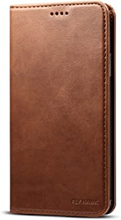 Wallet Case Compatible 2019 iPhone 11, Premium PU Leather Wallet Flip Cover Book Style Folio Stand View Kickstand with ID Credit Card Pockets for iPhone XI Credit Card Holder, Brown, 6.1 inches