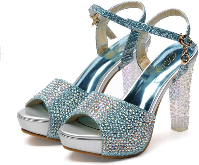 Naly Women's Mamie Bling Bridal shoes Bridesmaid Peep Toe Pump