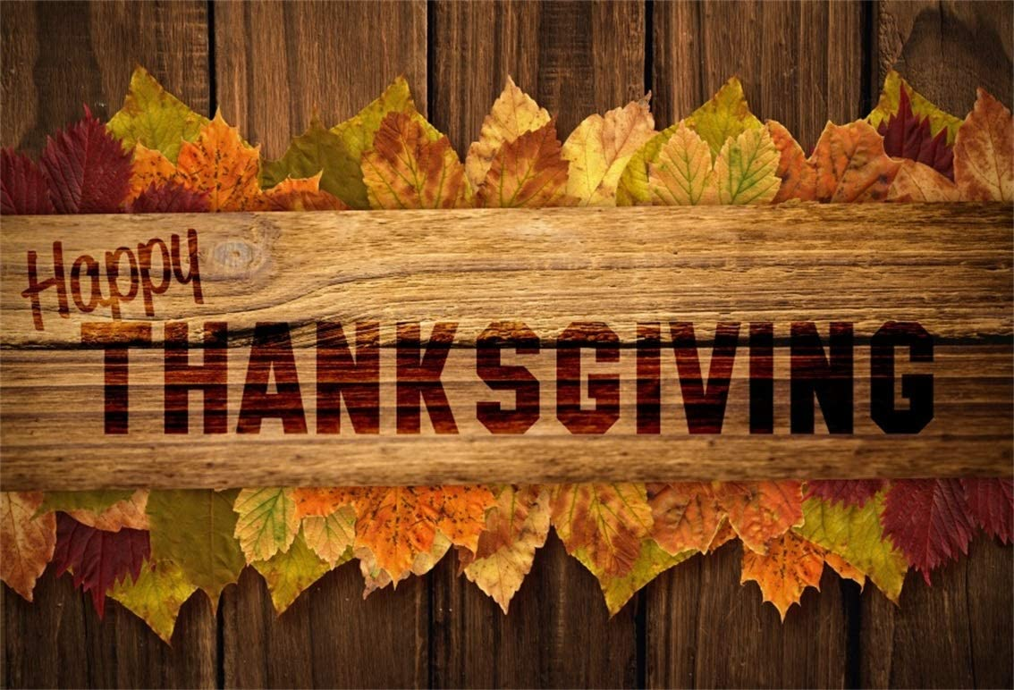 DORCEV 6x4ft Rustic Wood Photography Backdrop Retro Texture Wooden Wall Maple Leaves Background Thanksgiving Autumn Family Party Portraits Photo Studio Props Vinyl Wallpaper