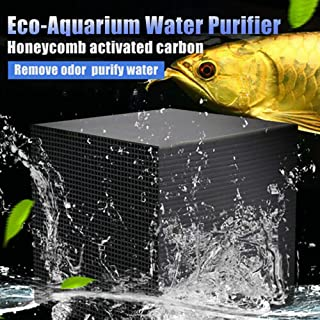 ELEDUCTMON Eco-Aquarium Water Purifier Cube Filter Activated Carbon Ultra Strong Filtration and Absorption for Aquarium,Ponds,Fish Tank, Water Tank, Water Purification