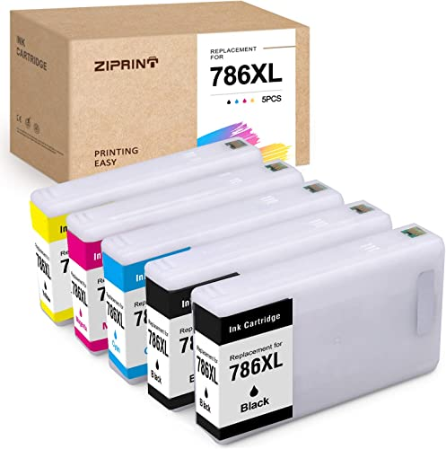 wholesale ZIPRINT Remanufactured Ink Cartridge Replacement for Epson 786XL 786 T786XL T786 to outlet online sale use with lowest Workforce Pro WF-4630 WF-4640 WF-5690 WF-5620 WF-5110 WF-5190 printer(Black, Cyan, Magenta, Yellow, 5-Pack) outlet online sale