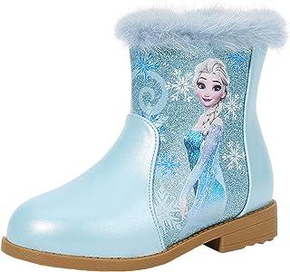 LOBTY Filles Princesse Chaussures De Neige Reine Des Neiges Robe Party Cosplay Carnaval De Noël De Mariage Vacances D'hive...
