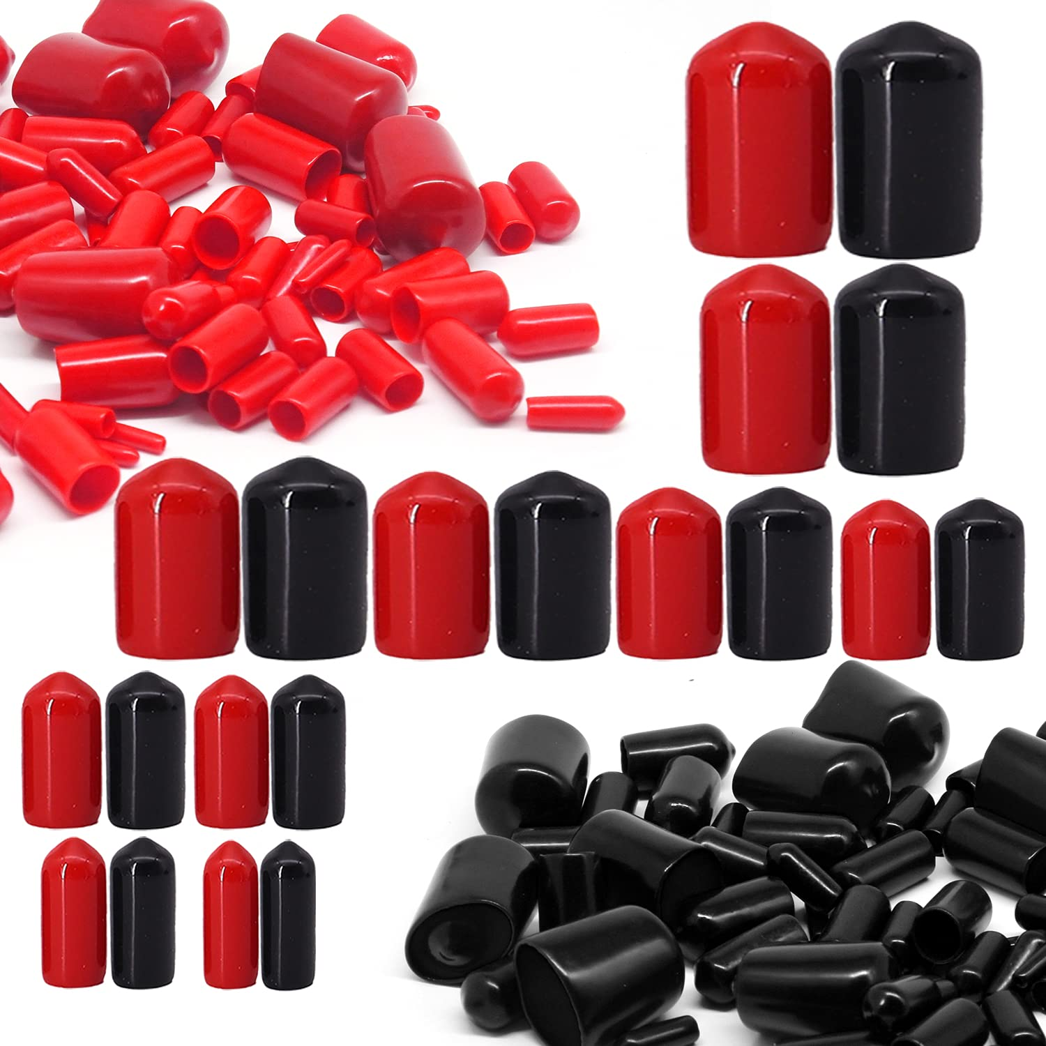 Jyongmer Max 51% OFF 200 Pieces Screw Cap Bolt Rubber Covers C Today's only End