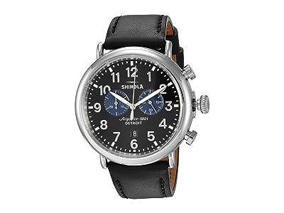 Shinola Detroit The Runwell Chronograph 47mm 20109242 (Black/Black/Blue Eyes) Watches