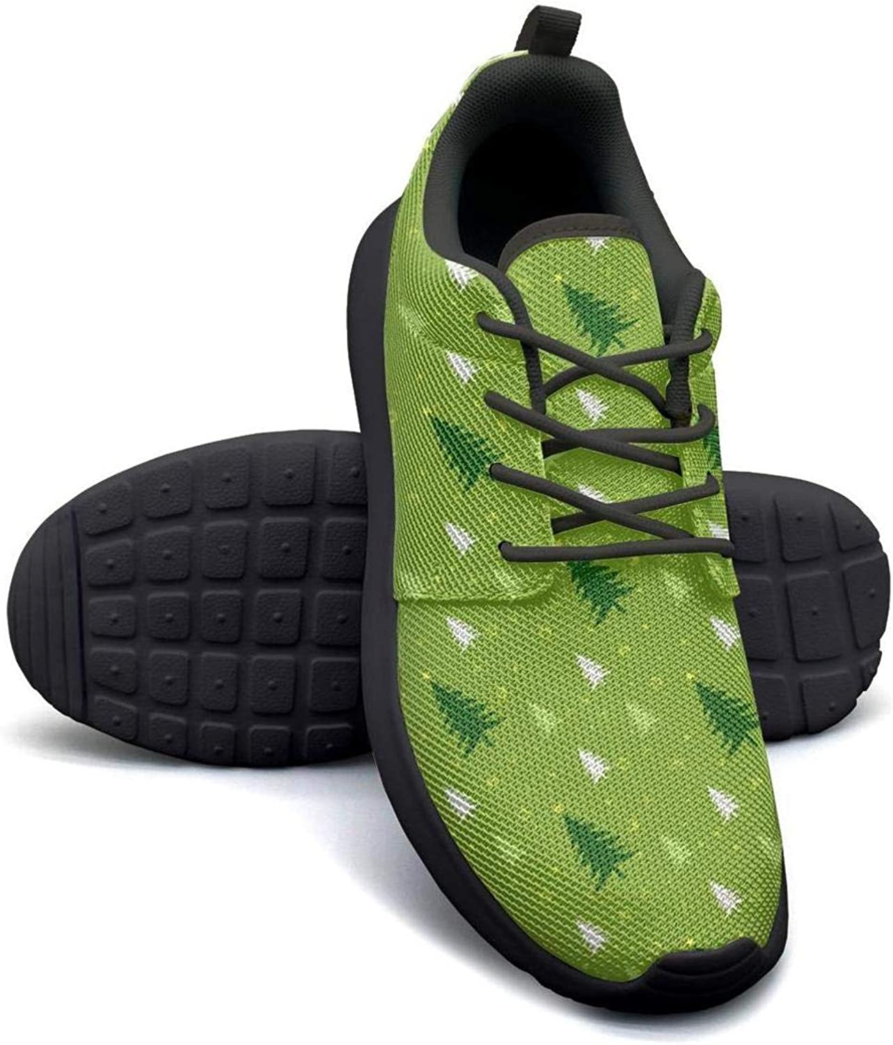 Gjsonmv Green Christmas Tree mesh Lightweight shoes for Women Comfortable Sports Workout Sneakers shoes