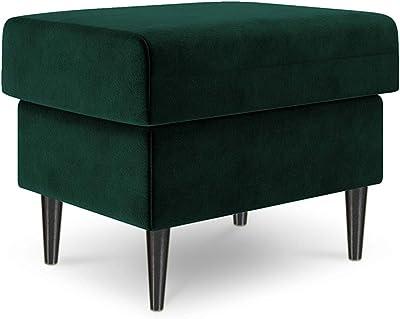 Mazzini Sofas - Puf de Terciopelo, Color Lila, 1 Plaza ...