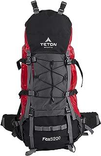 TETON Sports Fox 5200 Internal Frame Backpack – Not Your Basic Backpack – Hiking, Camping, Backpacking; Rain Cover