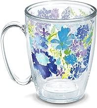 Tervis 1290788 Fiesta-Purple Floral Tumbler with Wrap, 16oz Mug, Clear