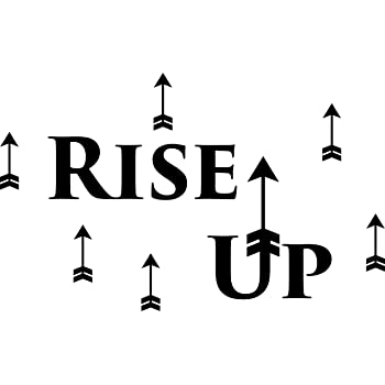Amazon Com Ds Inspirational Decals Hamilton Musical Quote Rise Up Vinyl Decal Wall Sticker 20 X12 Home Kitchen
