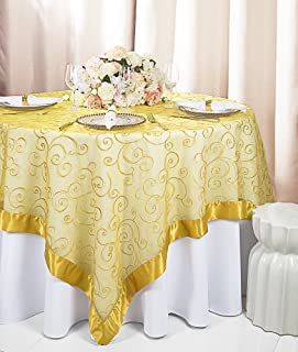 embroidered organza table overlays