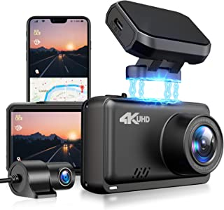 """JOMISE Dual Dash Cam 4K&1080P Built in WiFi GPS Car Dashboard Camera Recorder with UHD 3840x2160P, 2.45"""" LCD,170° Wide Ang..."""