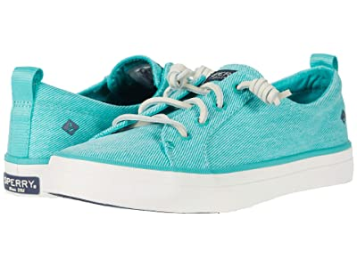 Sperry Crest Vibe Washed Twill (Bright Mint) Women