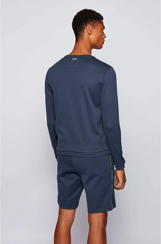 BOSS Mens Salbo Icon Slim-fit Sweatshirt in a Cotton Blend